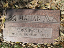 Edna <i>Parker</i> Mahan