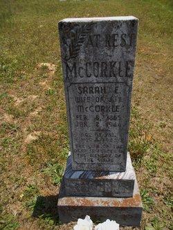 Sarah Elmira <i>Hughes</i> McCorkle
