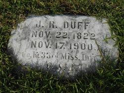 J R Duff