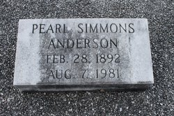 Pearl <i>Simmons</i> Anderson
