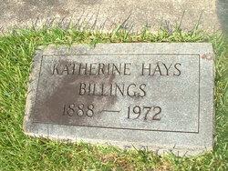 Katherine <i>Hays</i> Billings