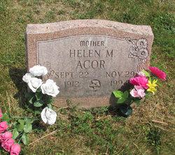 Helen M <i>Strausser</i> Acor