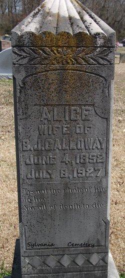 Alice <i>Ragland</i> Galloway