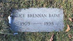 Alice <i>Brennan</i> Baine