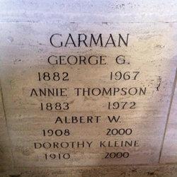 Dorothy Elizabeth <i>Kleine</i> Garman