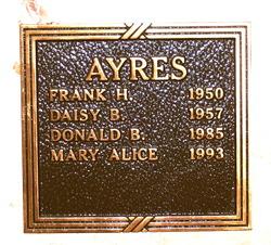 Daisy <i>Burge</i> Ayres
