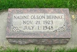Nadine Louise <i>Olson</i> Behnke