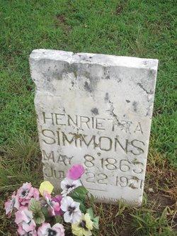Henrietta Simmons