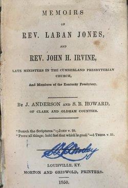 Rev John H Irvine
