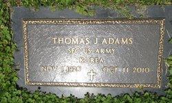 Thomas J Adams