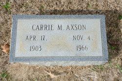 Carrie Lou <i>Martin</i> Axson