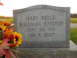 Mary Belle <i>Snider</i> Bollman