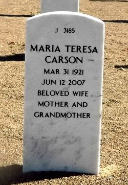 Maria Teresa <i>Galindo</i> Carson