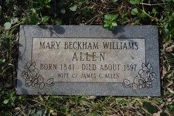 Mary <i>Beckham</i> Allen