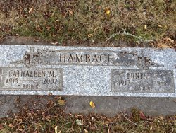 Ernest F Hambach