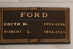 Edith M <i>Webb</i> Ford