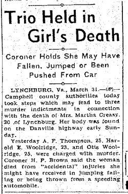 Martha Catherine <i>Campbell</i> Creasy
