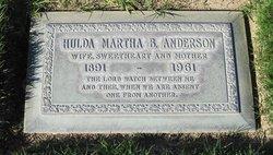 Hulda Martha <i>Barrow</i> Anderson
