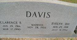 Clarence E Davis