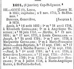 Marie Francoise <i>Morin</i> Cote