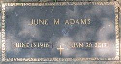 June Mary <i>Bergman</i> Adams