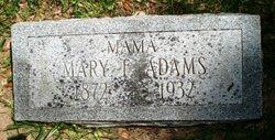 Mary Frances <i>Reed</i> Adams