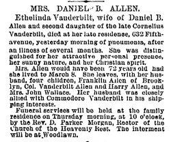 Ethelinda <i>Vanderbilt</i> Allen