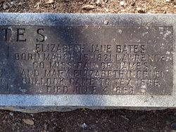 Elizabeth Jane <i>Bullock</i> Bates