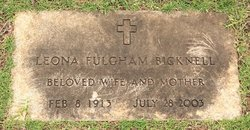 Leona <i>Fulgham</i> Bicknell