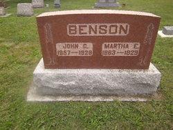 Martha E <i>Johnson</i> Benson