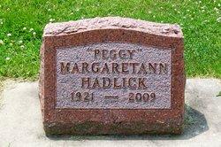 Margaret Ann Peggy <i>O'Neill</i> Hadlick