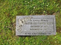 Mattie Lee <i>Cooper</i> Allen
