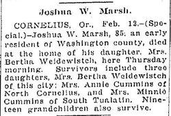 Joshua Wallace J.W. Marsh