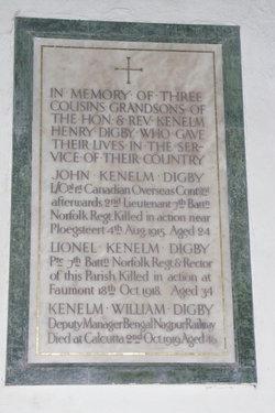 Pvt Lionel Kenelm Digby