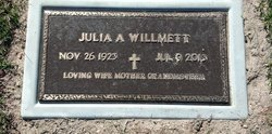 Julia Ann <i>Bloom</i> Willmett