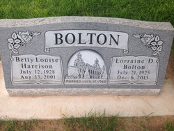 Betty Louise <i>Harrison</i> Bolton
