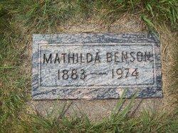 Mathilda Carrie H. <i>Broden</i> Benson