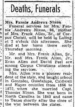 Frances Amanda <i>Andrews</i> Nixon