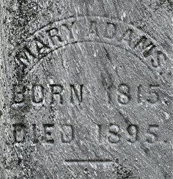 Mary <i>Burnett</i> Adams