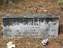 Joseph Wendell Snow