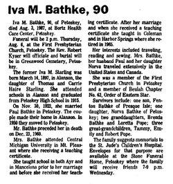 Iva <i>Starling</i> Bathke