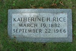 Fannie Katherine <i>Hollis</i> Rice