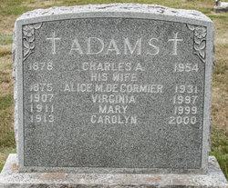 Alice M <i>Decormier</i> Adams