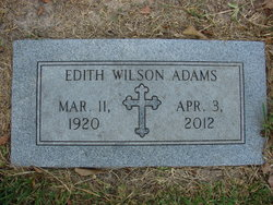 Edith <i>Wilson</i> Adams