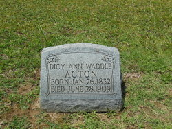 Dicy Ann <i>Waddle</i> Acton