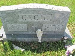 Elizabeth Maxine <i>Riney</i> Cecil
