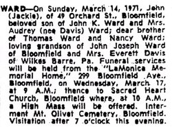 John Joseph Jackie Ward, II