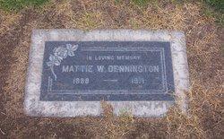 Mattie <i>Johnston</i> Dennington