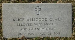 Mrs Alice Alligood <i>Alligood</i> Clark
