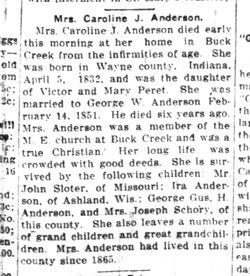 Caroline Josephine <i>Peret</i> Anderson